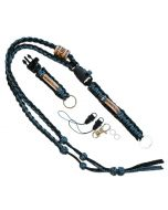 The Ultimate Trackable Lanyard - Digital Blue/Black Reflective