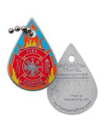 Firefighter Travel Tag