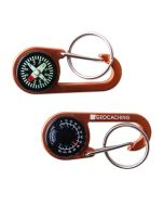 GC Logo Bison ClipIt® Compass/Thermometer