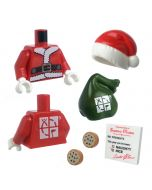 """Santa Torso and Accessory Kit for 2"""" Figures"""