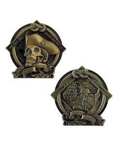 Pirate Geocoin- Courage (Antique Bronze Finish)
