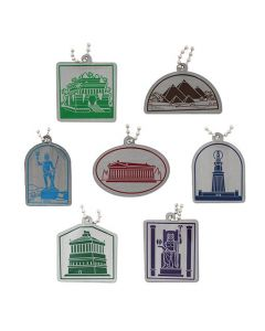 Ancient Wonders of the World Travel Tag Set - All 7 Tags