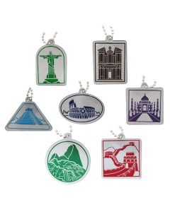Modern Wonders of the World Travel Tag Set - All 7 Tags