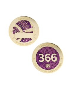 Challenges Geocoin and Tag Set - 366 Days of Geocaching