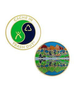CITO Full Size Geocoin- Reflection