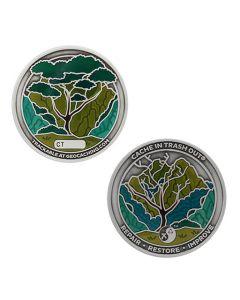 2021 CITO Geocoin & Tag Set- Silver
