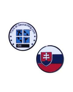 Country Micro Geocoin- Slovakia