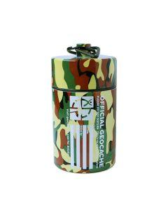 Small Cylinder Geocache- Light Camo