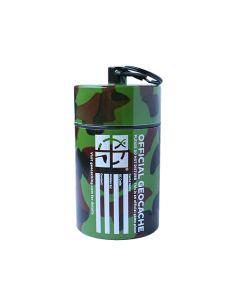 Small Cylinder Geocache- Dark Camo