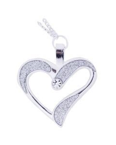 Eternal Love Geocoin Necklace-  Polished Silver