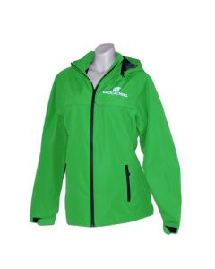 Ladies Waterproof Geocaching Rain Jacket- Green