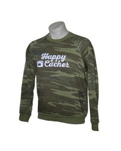 Happy Cacher Crewneck Sweatshirt- Camo