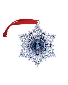 Snowflake Ornament Geocoin - Wreath