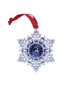 Snowflake Ornament Geocoin - Earth