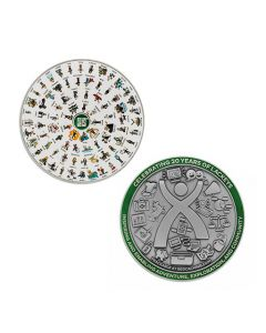 2020 Lackey Geocoin and Tag Set- Antique Silver