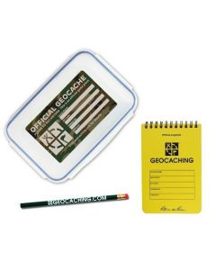 Official Large Geocache with Logbook and Pencil - Green Camo