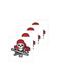 Pirate Temporary Tattoos (4 Pack)- The Lost Treasure of Mary Hyde