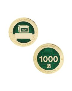 Milestone Geocoin and Tag Set - 1000 Finds