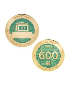 Milestone Geocoin and Tag Set - 600 Finds