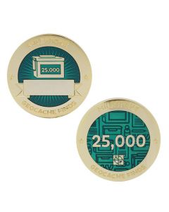 Milestone Geocoin and Tag Set - 25,000 Finds