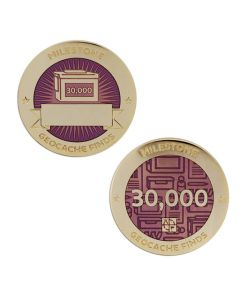 Milestone Geocoin and Tag Set - 30,000 Finds