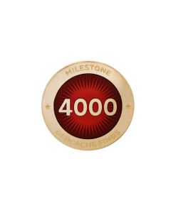 Milestone Pin - 4000 Finds