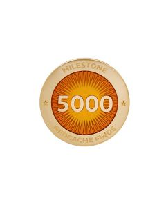 Milestone Pin - 5000 Finds