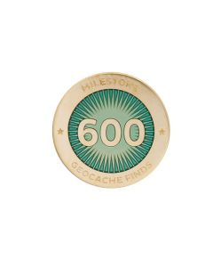 Milestone Pin - 600 Finds