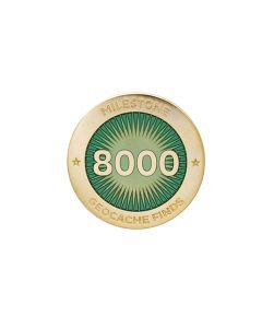Milestone Pin - 8000 Finds
