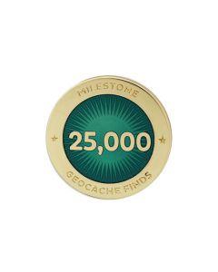 Milestone Pin - 25,000 Finds