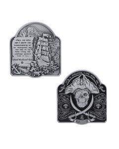 Pirate Geocoin - Antique Silver