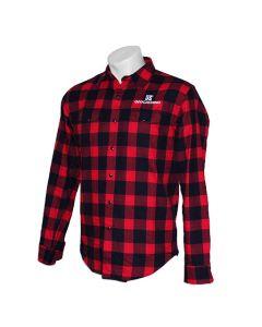 Geocaching Flannel Shirt- Red/Black