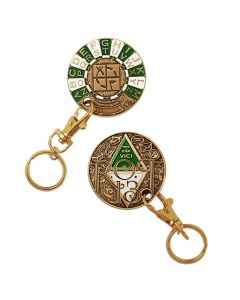 Rot13 Decoder Key Chain Geocoin- Gold