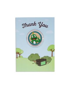 Thank You Card with Geocoin