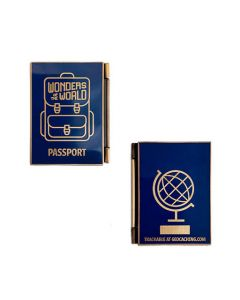 Wonders of the World Passport Geocoin and Trackable Tag Set