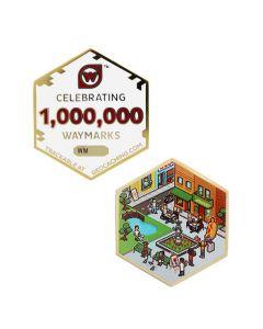 One Million Waymarks Geocoin