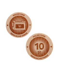 Milestone Wooden Nickel SWAG Coin - 10 Finds