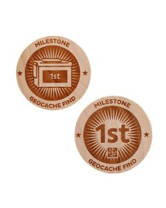 Milestone Wooden Nickel SWAG Coin - 1st Find!