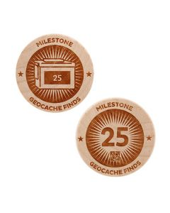 Milestone Wooden Nickel SWAG Coin - 25 Finds