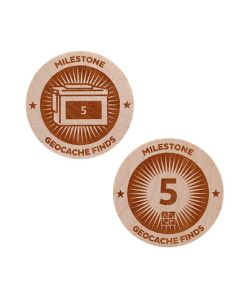 Milestone Wooden Nickel SWAG Coin - 5 Finds