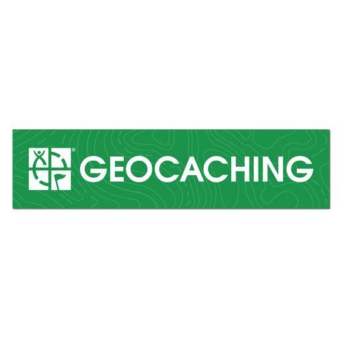 2 x GPS Geocaching Large geocache stickers.