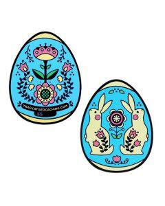 2019 Egg Geocoin- Blue