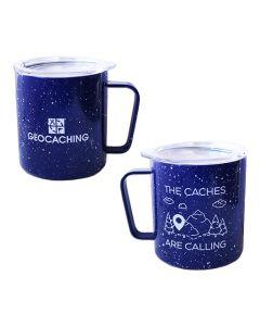 Caches Are Calling 12 oz. Camp Mug - Blue