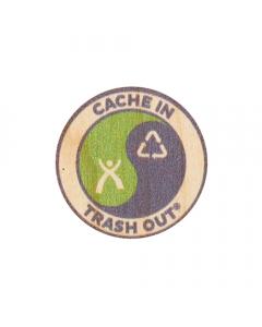 """CITO Wood Sticker:  1.4"""" Round"""