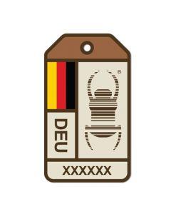 Travel Bug® Origins Sticker-  Germany