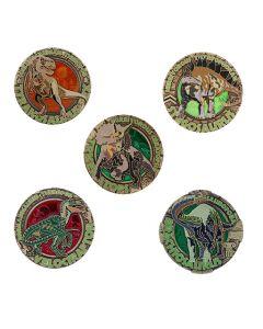 Dinosaur Series Geocoin Set - All 5