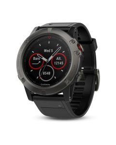 Garmin fēnix® 5X- Slate Gray Sapphire with Black Band