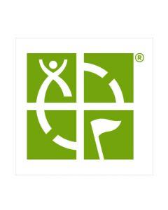 Green 3 x 3 Geocaching Logo Sticker