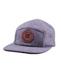 Geocaching Logo 5 Panel Camper Hat- Grey
