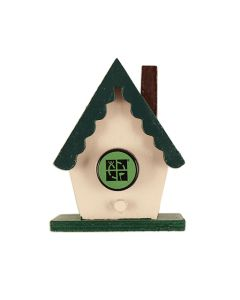 Mini Magnetic Chalet Birdhouse Geocache